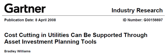 Gartner Cost Cutting Utilities Asset Planning Veracity