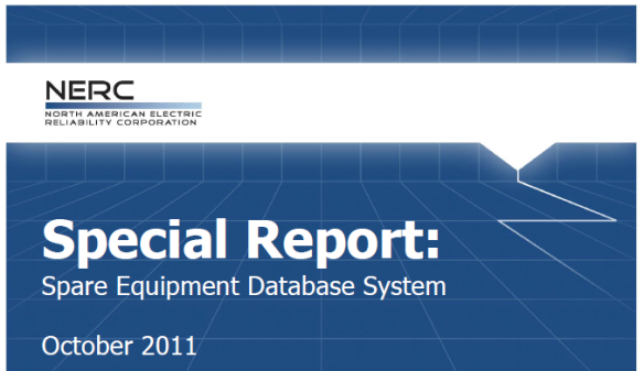 NERC Spare Equipment Database Oct 2011 Cover